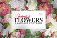 12 Colorful Seamless Flower Patterns
