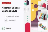 Abstract Shapes Background Bauhaus Style Ttldu9l